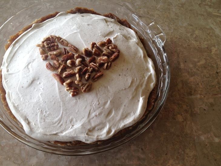 The raw Chocolate Banana Cream Pie I made for Willow's 2nd birthday. Got the recipe from Emily von Euw's book - Rawsome Vegan Baking