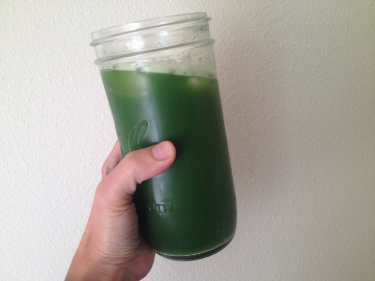 This slightly sweet Green Apple Kale juice was super refreshing!