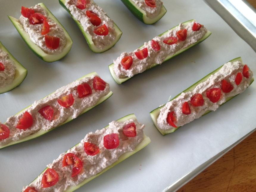 """Ricotta"" Stuffed Zucchini Boats | Be Sol-Ful"