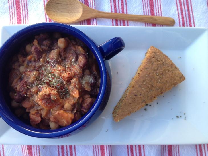 Crockpot Four Bean Chili // Be Sol-Ful