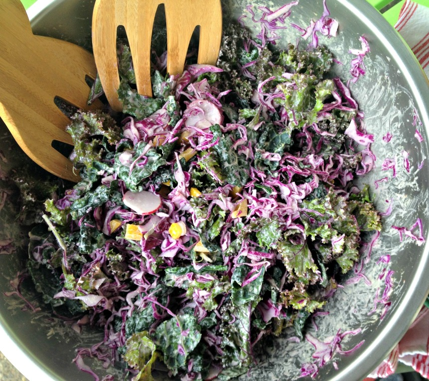 RECIPE: Raw Kale Salad with Garlic Chipotle Tahini Dressing // Be Sol-Ful