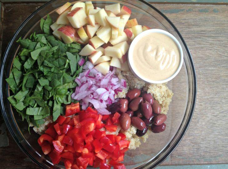 RECIPE: Quinoa Apple Salad with Creamy Mustard Dressing