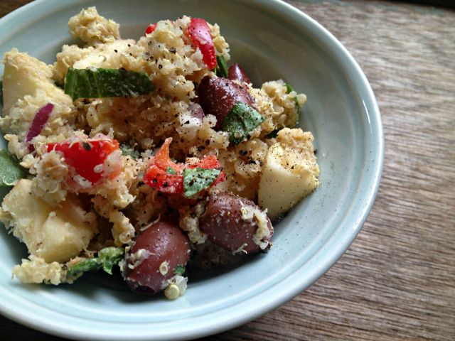 RECIPE: Quinoa Salad with Creamy Mustard Dressing