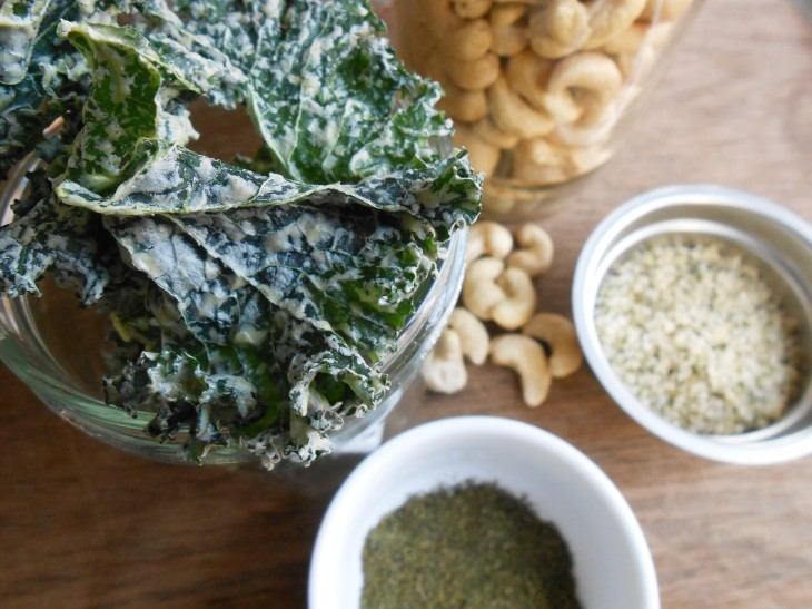 RECIPE: Raw Ranch Kale Chips