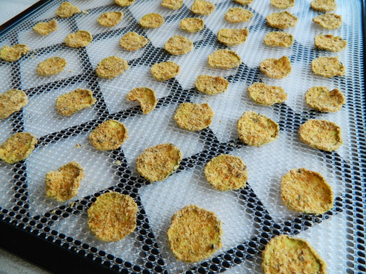 "RECIPE: Raw ""Breaded"" Italian Zucchini Chips"