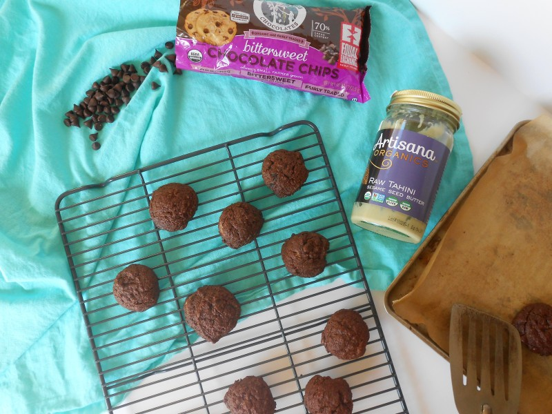 Flourless Chocolate Tahini Cookies