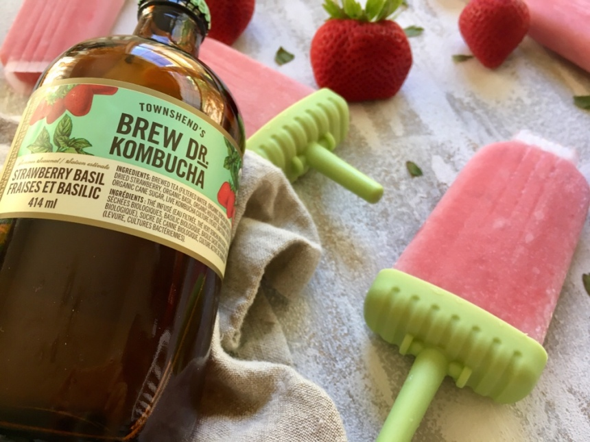 Strawberry Kombucha Pops